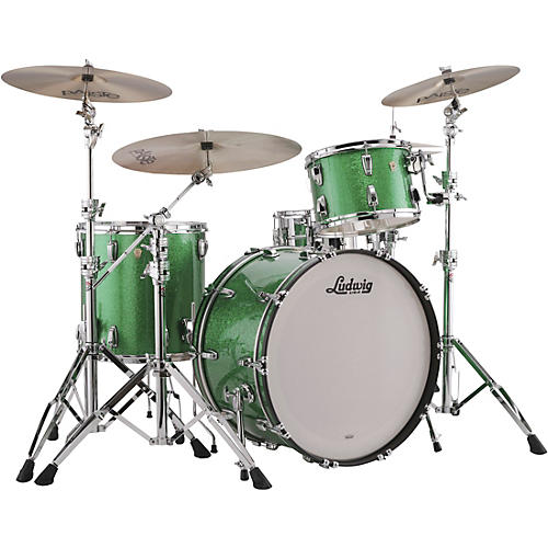 Ludwig Classic Maple 3-Piece Pro Beat Shell Pack with 24 in. Bass Drum Condition 1 - Mint Green Sparkle