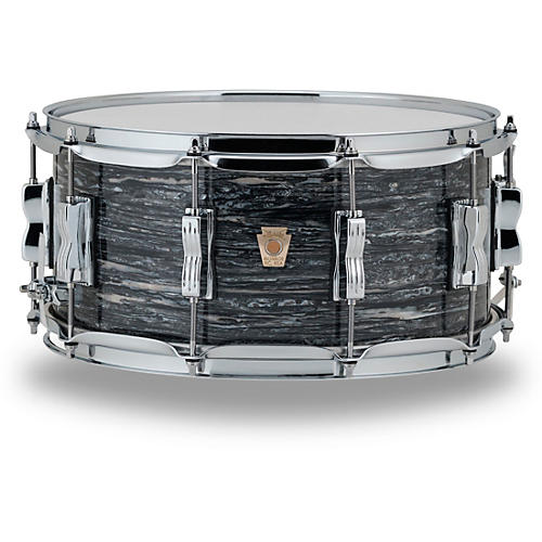 Ludwig Classic Maple Snare Drum 14 x 6.5 in. Vintage Black Oyster Pearl