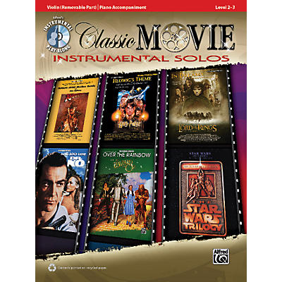 Alfred Classic Movie Instrumental Solos for Strings Violin Play Along Book/CD
