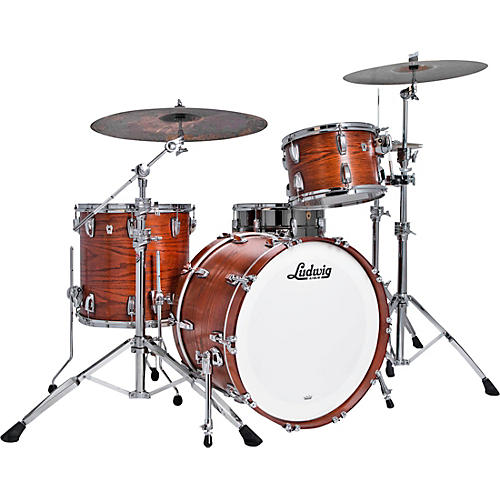 Ludwig Classic Oak 3-Piece Fab Shell Pack with 22 in. Bass Drum Tennessee Whiskey