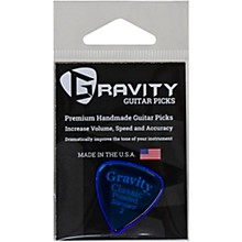 GRAVITY PICKS Classic Pointed Standard Polished Blue Guitar Picks