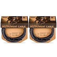 D'Addario Classic Pro Series Instrument Cable - 20 ft. - 2-Pack