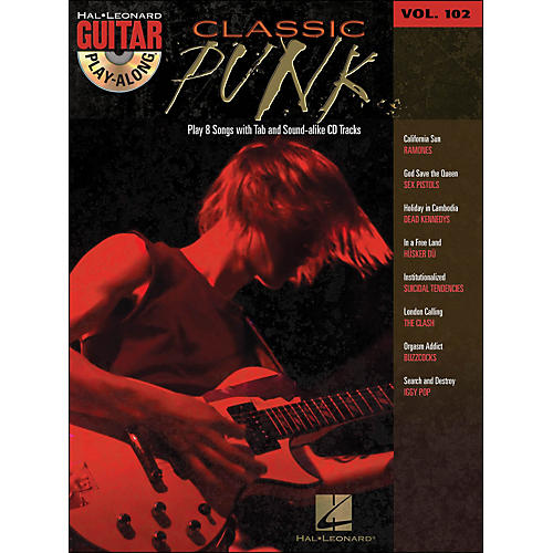 Hal Leonard Classic Punk Guitar Play- Along Volume 102 Book/CD