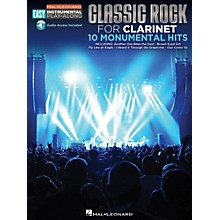 Hal Leonard Classic Rock - Clarinet - Easy Instrumental Play-Along Book with Online Audio Tracks