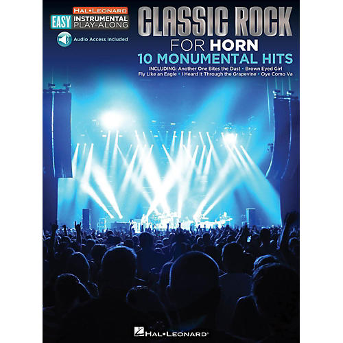 Hal Leonard Classic Rock - Horn - Easy Instrumental Play-Along Book with Online Audio Tracks