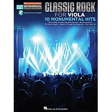 Hal Leonard Classic Rock - Viola - Easy Instrumental Play-Along Book with Online Audio Tracks