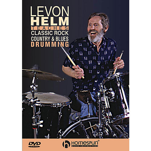 Homespun Classic Rock, Country & Blues Drumming Instructional/Drum/DVD Series DVD Written by Levon Helm