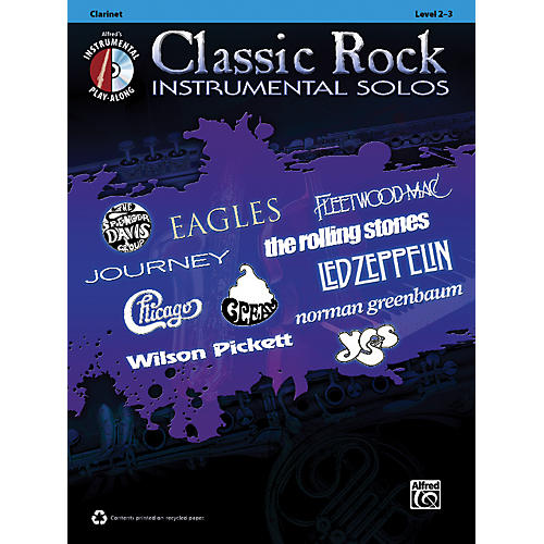 Alfred Classic Rock Instrumental Solos Clarinet Book & CD