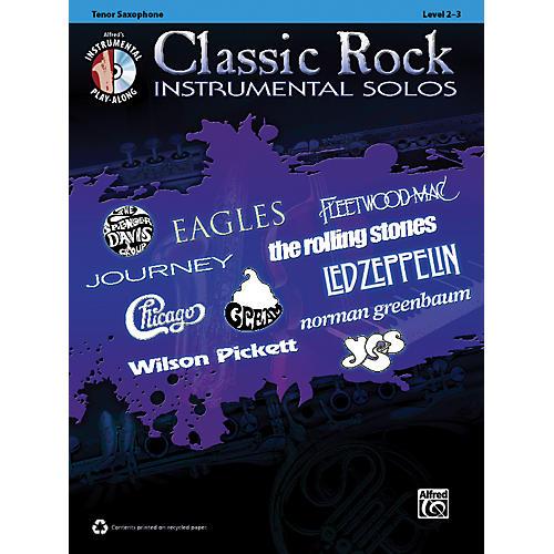 Alfred Classic Rock Instrumental Solos Tenor Sax Book & CD