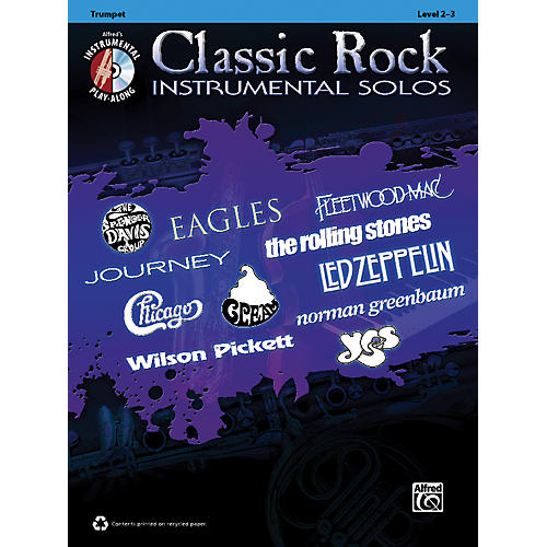 Alfred Classic Rock Instrumental Solos Trumpet Book & CD