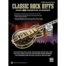 Alfred Classic Rock Riffs Guitar Book & CD