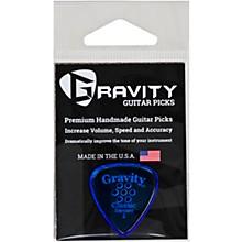 GRAVITY PICKS Classic Standard Polished Blue Multi-Hole Guitar Picks