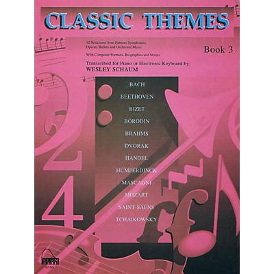 SCHAUM Classic Themes, Bk 3 Educational Piano Series Softcover