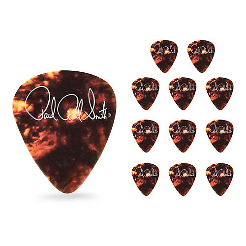 PRS Classic Tortoise Shell Celluloid Guitar Picks Heavy 12 Pack