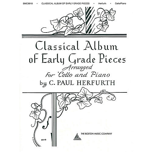Boston Music Classical Album of Early Grade Pieces (for Cello and Piano) Music Sales America Series