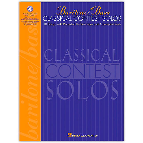 Hal Leonard Classical Contest Solos for Baritone/Bass (Book/Online Audio)