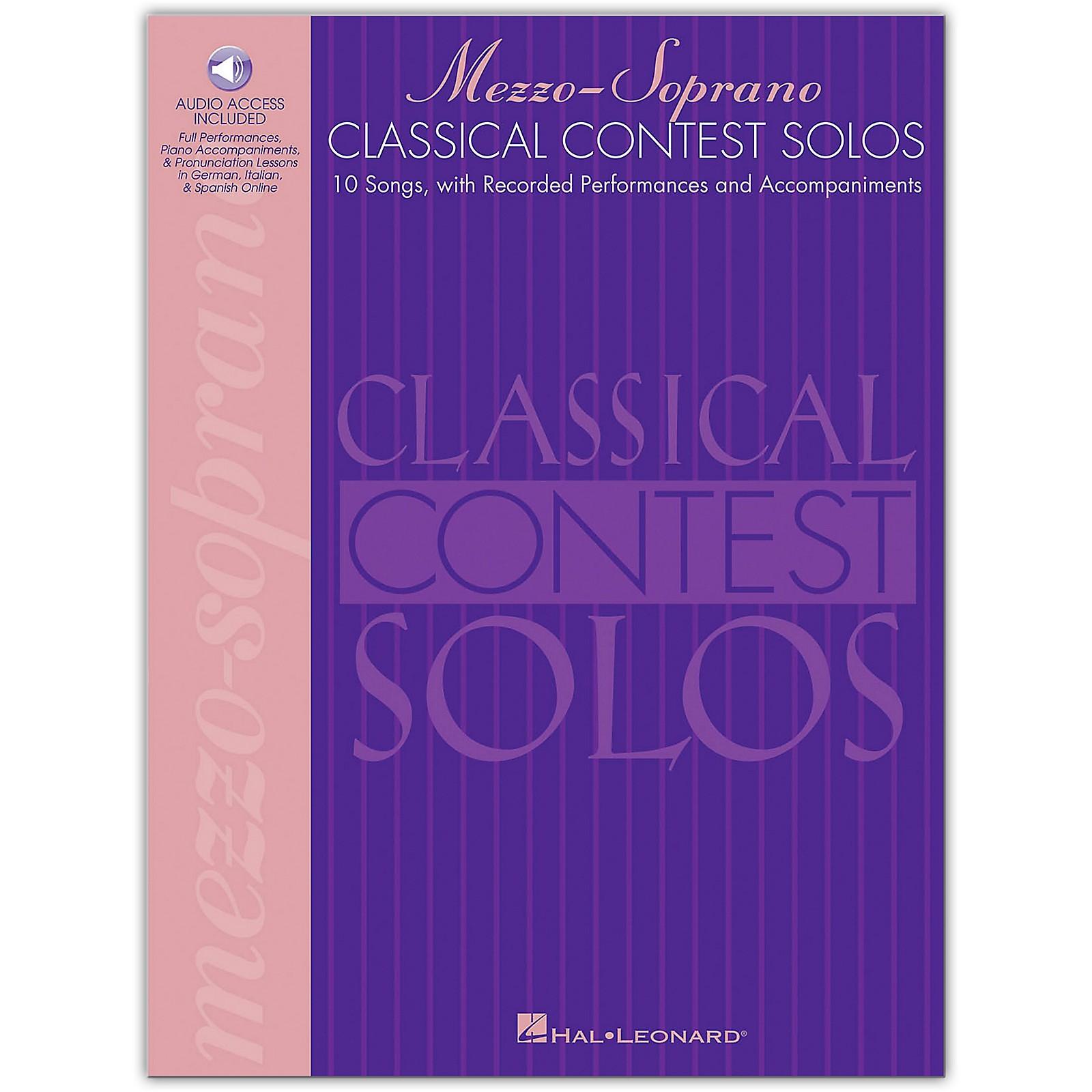 Hal Leonard Classical Contest Solos for Mezzo Soprano (Book/Online Audio)