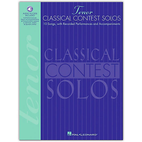 Hal Leonard Classical Contest Solos for Tenor Voice (Book/Online Audio)