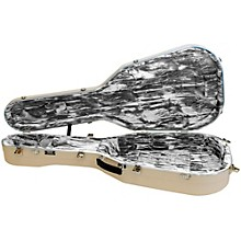 Open Box Hiscox Cases Classical Guitar Case/Small Ivory Shell/Silver Int-Artist