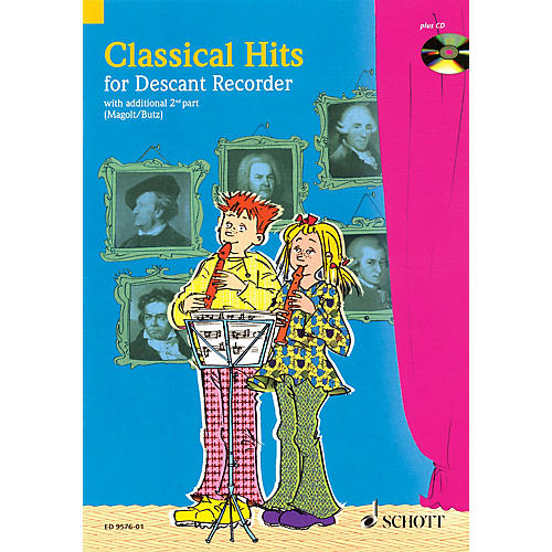 Schott Classical Hits for 1-2 Descant Recorders Schott Series Softcover with CD