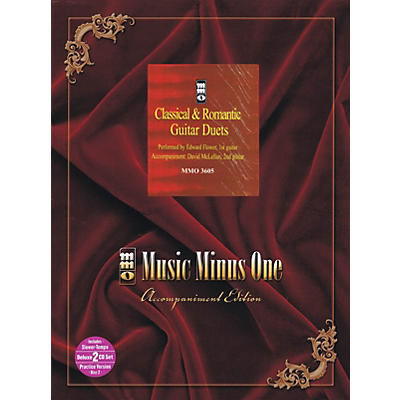 Music Minus One Classical & Romantic Guitar Duets (Deluxe 2-CD Set) Music Minus One Series Softcover with CD