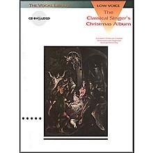 Hal Leonard Classical Singers Christmas Album for Low Voice Book/CD