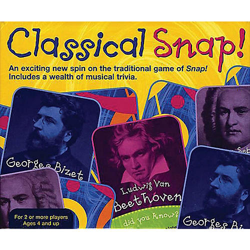 Music Sales Classical Snap!  Trivia Card Game