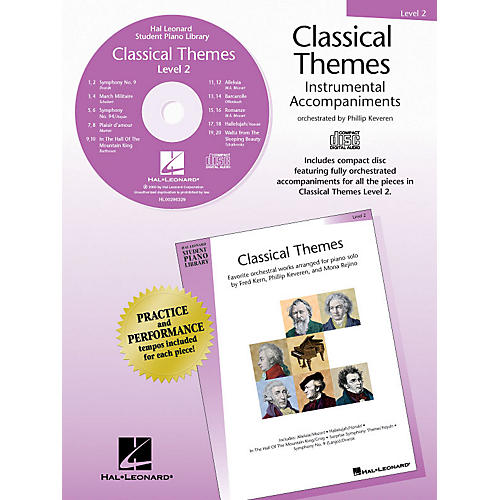 Hal Leonard Classical Themes - Level 2 - CD Piano Library Series CD