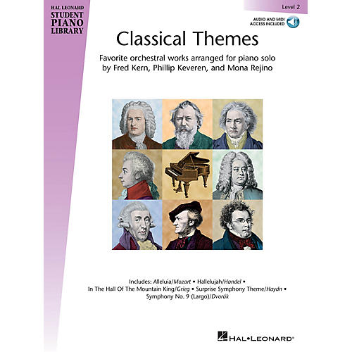 Hal Leonard Classical Themes - Level 2 Piano Library Series Book Audio Online