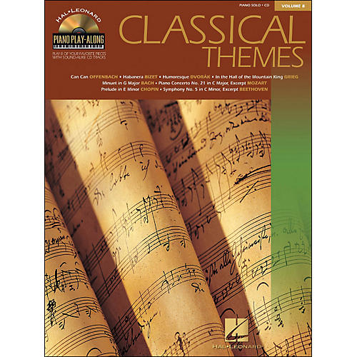 Hal Leonard Classical Themes Volume 8 Book/CD Piano Play-Along arranged for piano, vocal, and guitar (P/V/G)