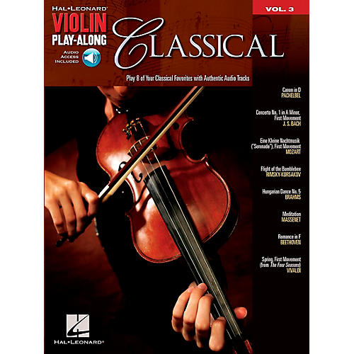 Hal Leonard Classical Violin Play-Along Volume 3 Book/Online Audio