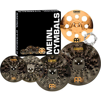 MEINL Classics Custom Dark Set Cymbal Pack with Free Trash Crash and Ching Ring