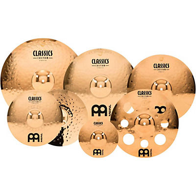 "Meinl Classics Custom Double Bonus Pack Cymbal Box Set with FREE 10"" Splash and FREE 16"" Trash Crash"