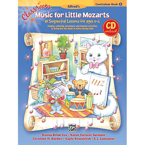 Alfred Classroom Music for Little Mozarts Curriculum Book 2 & CD