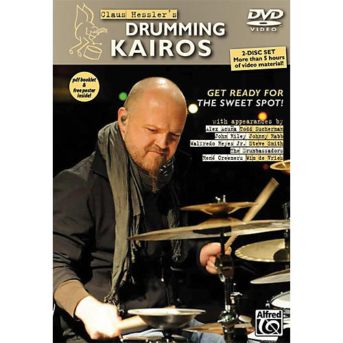 Alfred Claus Hessler's Drumming Kairos 2 DVDs pdf Booklet and Poster
