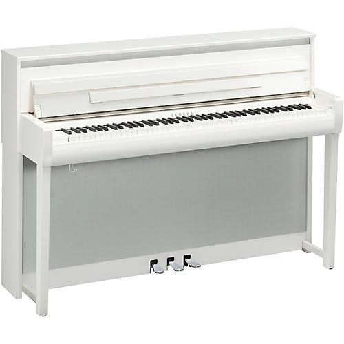 Yamaha Clavinova CLP-785 Console Digital Piano With Bench Polished White
