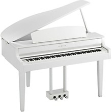 Clavinova CLP665 Digital Grand Piano with Bench White