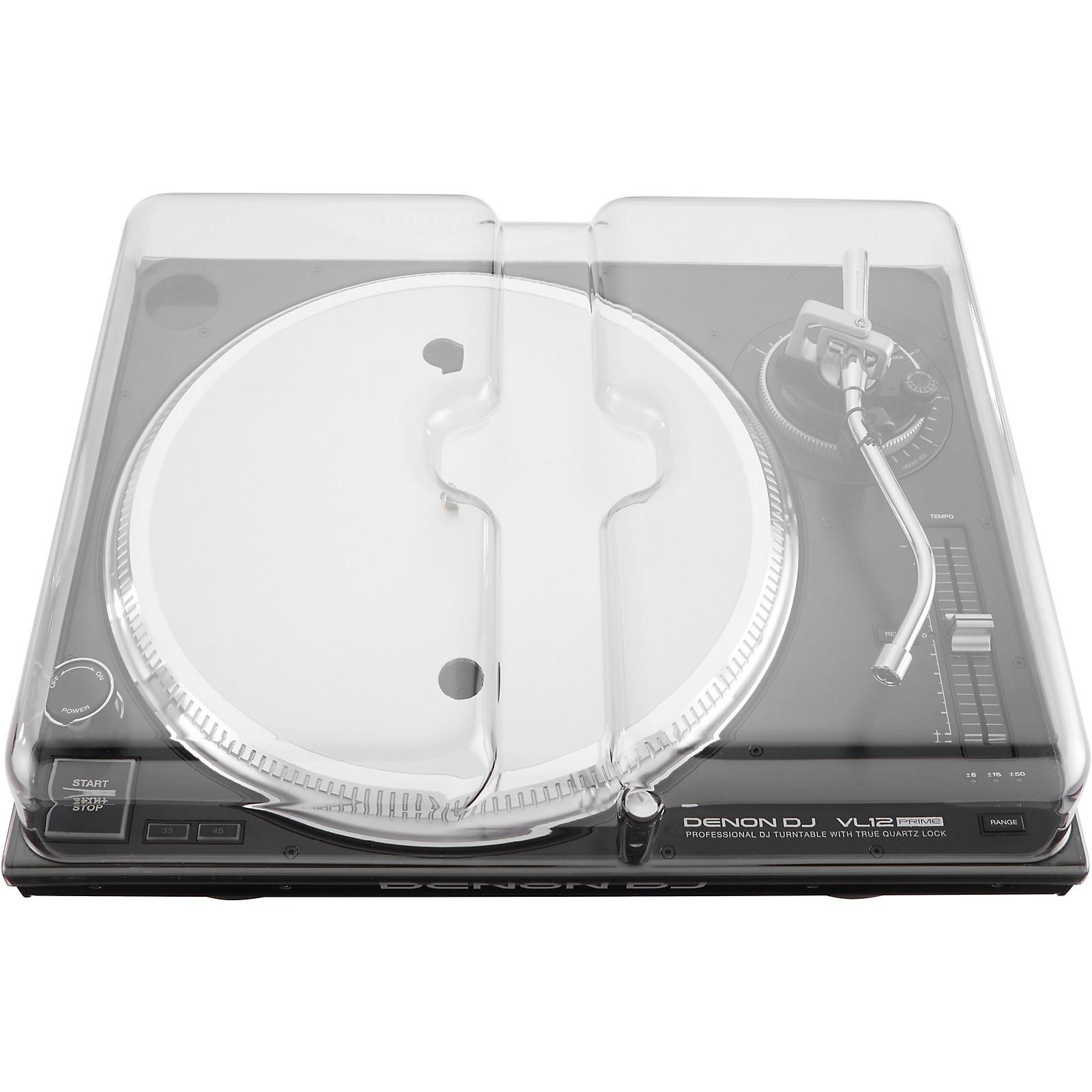 Decksaver Clear Polycarbonate Cover for Denon VL12 PRIME Professional Turntable