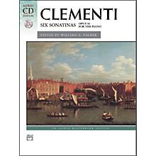 Alfred Clementi Six Sonatinas Op. 36 Intermediate Book & CD Piano
