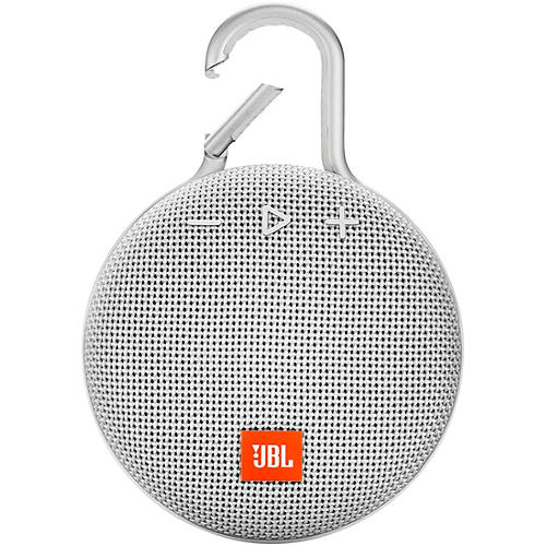 JBL Clip 3 Waterproof Portable Bluetooth Speaker White