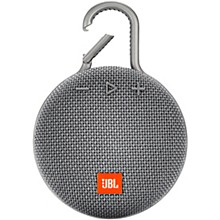 Clip 3 Waterproof Portable Bluetooth Speaker w/10 Hours Of Playtime Gray