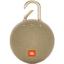 Clip 3 Waterproof Portable Bluetooth Speaker w/10 Hours Of Playtime Natural