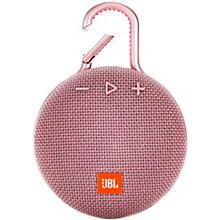 Clip 3 Waterproof Portable Bluetooth Speaker w/10 Hours Of Playtime Pink