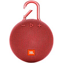 Clip 3 Waterproof Portable Bluetooth Speaker w/10 Hours Of Playtime Red