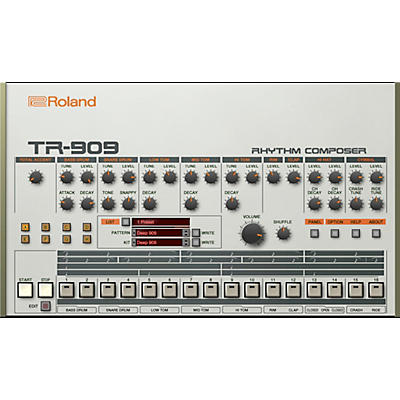 Roland Cloud Cloud TR-909 Software Rhythm Composer (Download)