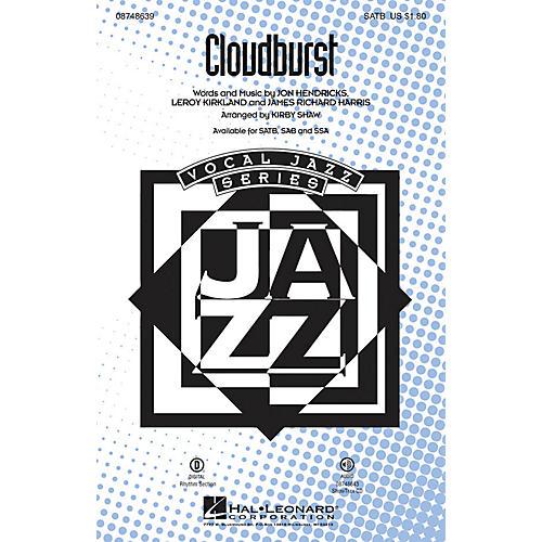 Hal Leonard Cloudburst SATB arranged by Kirby Shaw