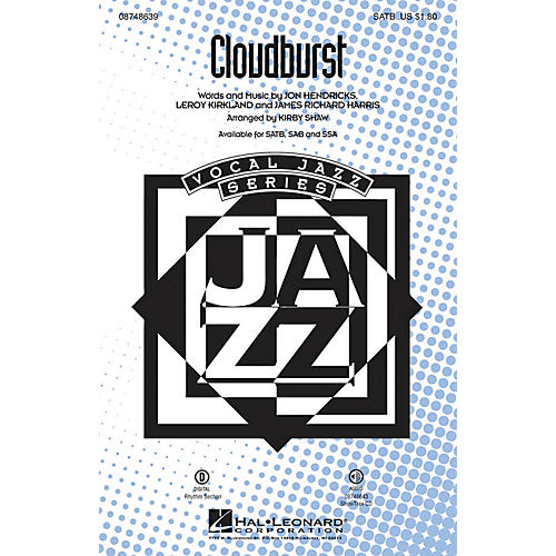 Hal Leonard Cloudburst ShowTrax CD Arranged by Kirby Shaw