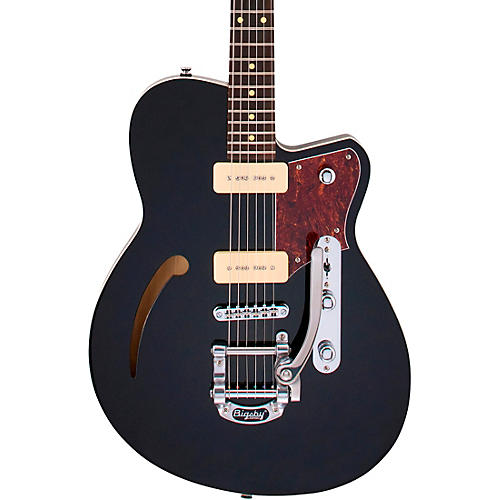 Reverend Club King 290 Roasted Maple Fingerboard Electric Guitar Midnight Black