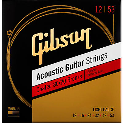 Gibson Coated 80/20 Bronze Light Acoustic Guitar Strings