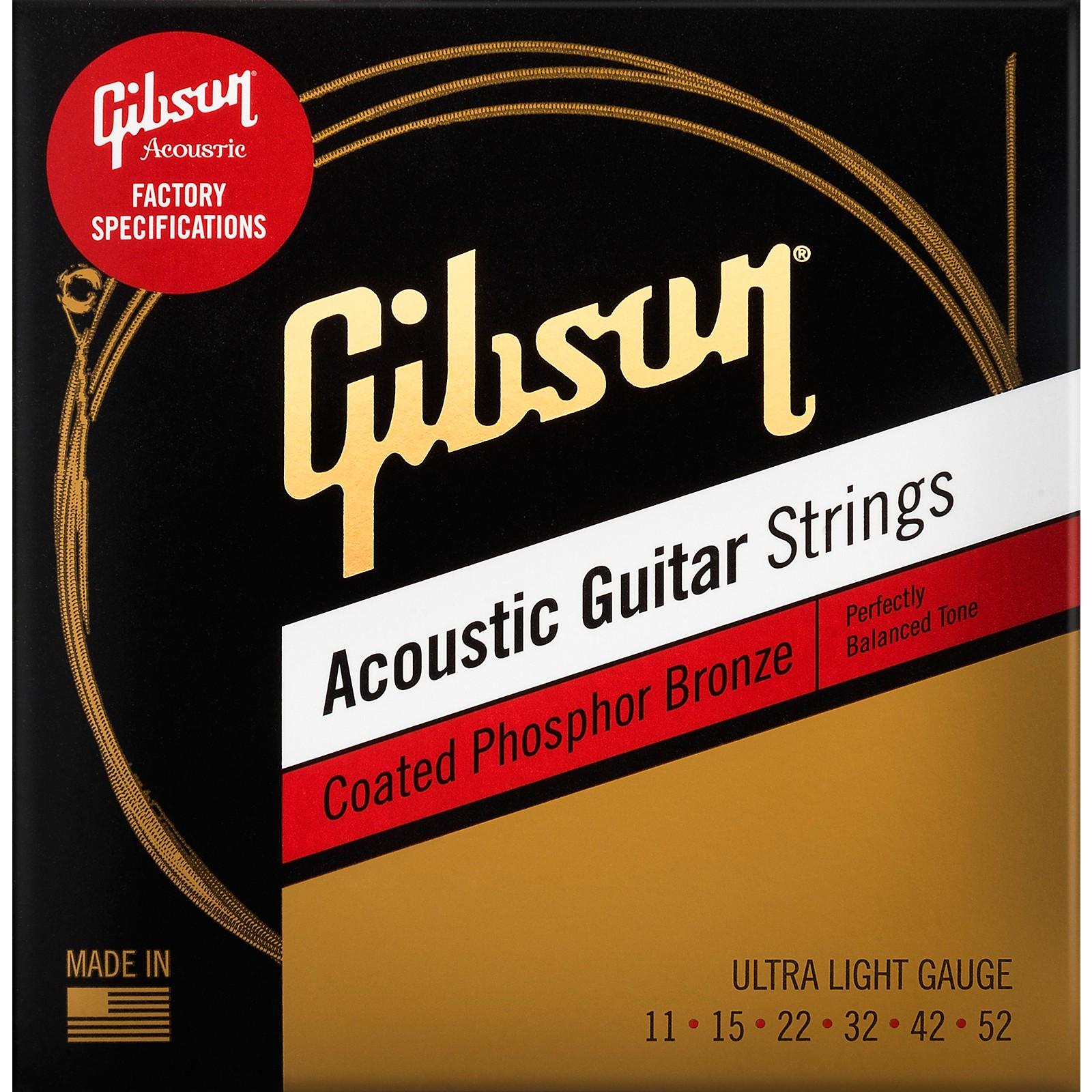 Gibson Coated Phosphor Bronze Acoustic Guitar Strings
